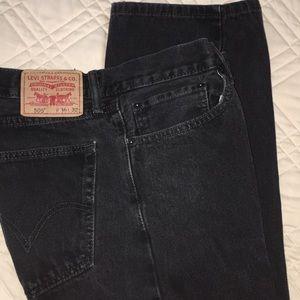 Men's Black Levi's  505  size 36X32